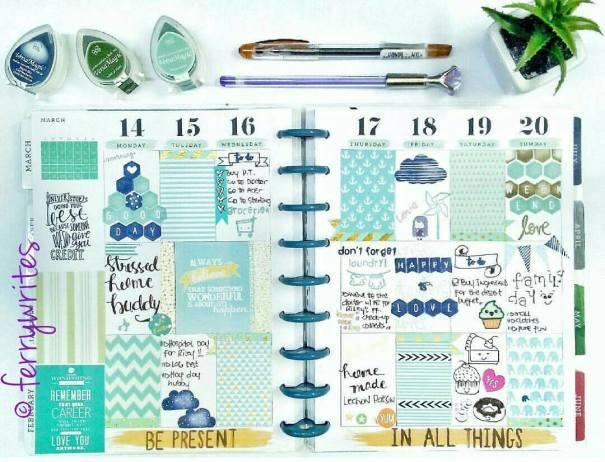 happy_planner_week_11_mint_theme_ferrywrites