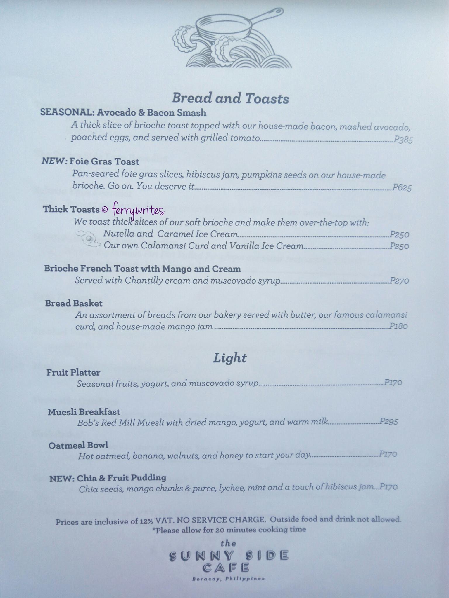 The Sunny Side Cafe Boracay – Ferry Writes